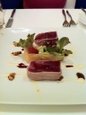 "Pan Seared Tuna and Phyllo ""Garden"""
