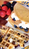 waffles crepes berries