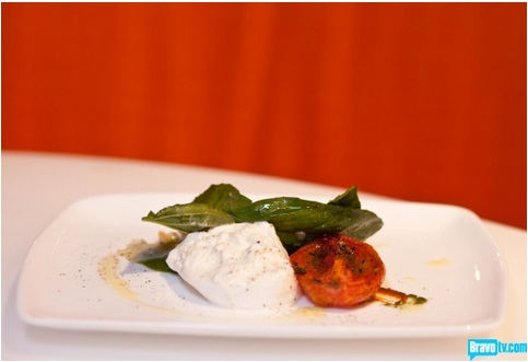 Fabio Viviani Burrata Top Chef Kitchen