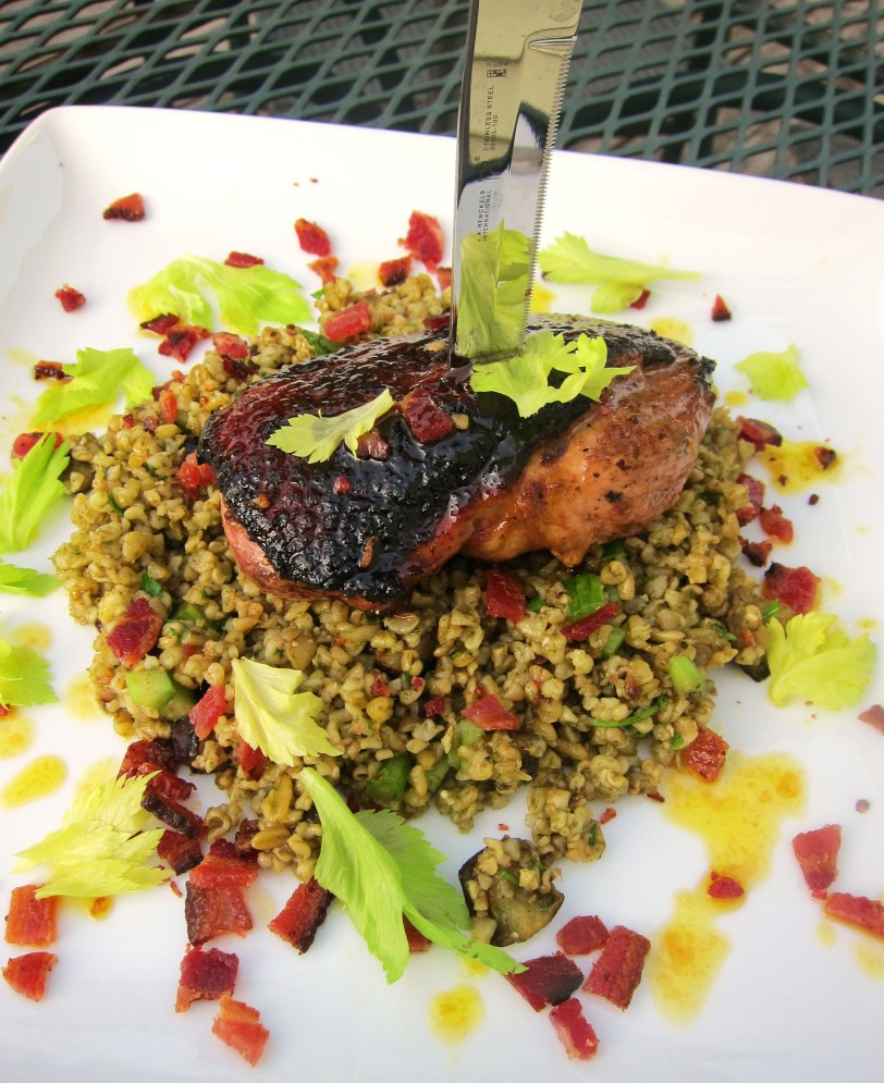 duck breast freekeh