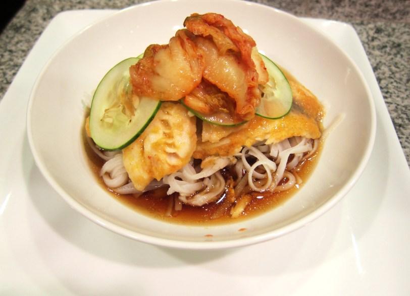 kimchi fish noodles